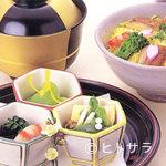 四季料理 右京 - 春・蒸し寿司(筍・菜ノ花)
