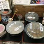 味噌一 - トッピング(味付け玉子・火吹きメンマ・火吹きもやし・わかめ・紅生姜) ※1つ20円以上のカンパで食べられます。