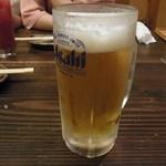 居酒屋元気でーす - ドリンク写真:生ビール
