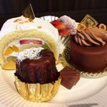 サンニコラ 香林坊店 - フルーツロール、アールグレイカヌレ、ボンボンショコラ(くるみジャンドゥーヤ)、プラリネシュクセ