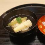 もめん - 筍と湯葉真丈のお椀