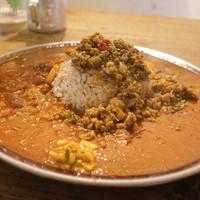SOMA-チキンキーマ+トマトカレー+お肉のカレー