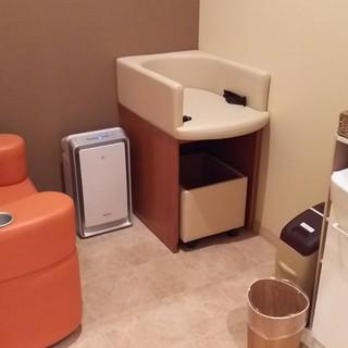 完全個室の授乳室完備