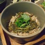 五十八 - 高菜とキノコの土鍋炊き込みご飯