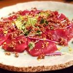 65905825 - 【鮮魚とアボカドの食べる醤油のカルパッチョ】コース/4名分