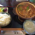 65907036 - 味噌煮込み松橋(豊田市) 小ライス選択。定食。食彩品館.jp撮影