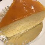 珈琲貴族エジンバラ - ニューヨークチーズケーキのアップ