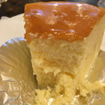 珈琲貴族エジンバラ - ニューヨークチーズケーキの断面