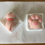 茶道具 青峰堂 - 料理写真:「さくら猫」と「肉球」 (懐紙が季節外れでした)