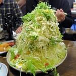 筑前屋 - バカ盛り野菜サラダ¥680