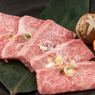 その日市場から仕入れた厳選和牛の、味わい深い部分をチョイス