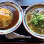 国分寺うまか飯店 - Bセット(天津飯withチャーハン+味噌ラーメン)       1090円