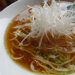 うえんで食堂 - 会津地鶏かけそば(¥750税込み)