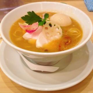 銀座 篝 大手町店 - 鶏白湯味噌+味玉 1100円