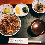 いちごや - かき揚げ丼ランチ1180円