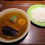 65920691 - ナスとひき肉のカレー+ライス(小)