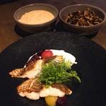 Salt grill & tapas bar - 真鯛のグリル ヨーグルトソース トリュフマッシュドポテト ガーリックマッシュルーム