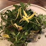 organ - 『愛媛産 縞鰺のマリネ 山菜のフリット 海苔のコンディマン』