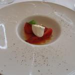 リストランテ・ヒロ  - トマトとモッツアレラチーズのカプレーゼ