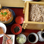 65923405 - ざる蕎麦3段+桜えびワッパ飯