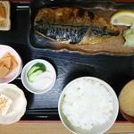 ふしみ食堂 - 2017年3月 サバ塩焼定食 1200円
