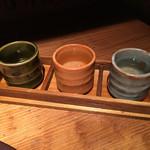 八代目儀兵衛 - 京の地酒の飲み比べセット 三種 850円