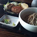 珈琲と人 - 料理写真:Aランチ(日替わり小鉢とお蕎麦、山かけ御飯)