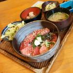 絵馬亭 - 本まぐろづけ丼(食べログワンコインランチ利用価格540円)2017年4月
