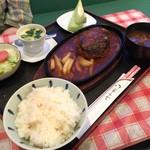 フライパン - 料理写真:ジャンボハンバーグ定食