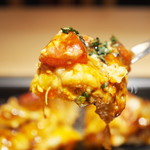 京ちゃばな - 豚肉&チーズのトマトお好み焼き