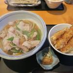 国分寺そば - 肉そばとミニ天丼