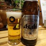 松本くろ門 - スーパードライ中瓶(550円)