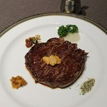 甘露の森 - 牛フィレ陶板焼き
