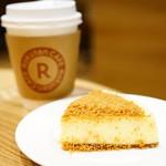 楽天カフェ - ニューヨークチーズケーキ (¥550)、ドリップコーヒー S  (¥330)