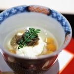 割烹 互閃 - 料理写真:スッポンの内臓卵と肝のヅケ 昆布で炊いた湯葉の飯蒸し