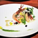 ビストロ・シンバ - マハタ 新玉ねぎ 菜の花のソース レフォールソース