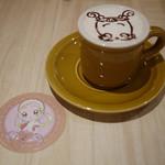 ヴィレッジヴァンガードカフェ - はなちゃんのコーヒーラテ&ももこコースター~☆