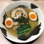 65943773 - 「麺や暁」 塩ラーメン味玉入り 820円