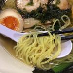 65943779 - 「麺や暁」 塩ラーメン味玉入り 麺