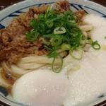 丸亀製麺 - 牛とろ玉うどん(冷)(大)790円