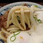 丸亀製麺 - 牛とろ玉うどん 麺