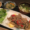いざかや ほうせいどう - 料理写真:アジアン豚肉そぼろごはん