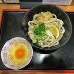 讃岐麺処 か川 - ぶっかけうどんwith生卵