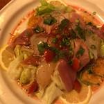 大衆割烹 味翔 - 気まぐれ鮮魚のカルパッチョ900円