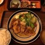 大衆割烹 味翔 - 生姜焼き定食800円