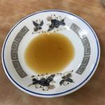 中央亭 - 【2017.4.12】醤油には事前にお酢が入っています、
