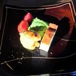 寺かふぇ 香華庵 - 料理写真:ブリュレとケーキと抹茶アイスwishイチゴ