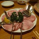 炭火焼肉 味楽亭 - 葱上タン塩