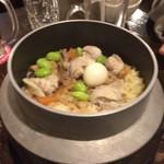やきとりの扇屋 - 鶏釜飯