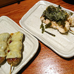 鳥貴族 蒲田西口店 - つくねチーズ焼&ささみわさび焼